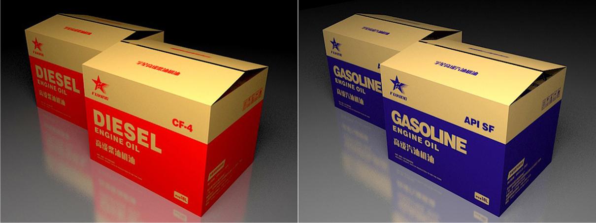 乌鲁木齐_孚星润滑油_纸箱包装设计